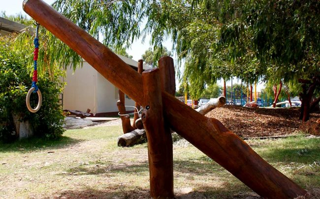 Endeavour Schools Kindergarten Nature Based Playground Perth WA Swing